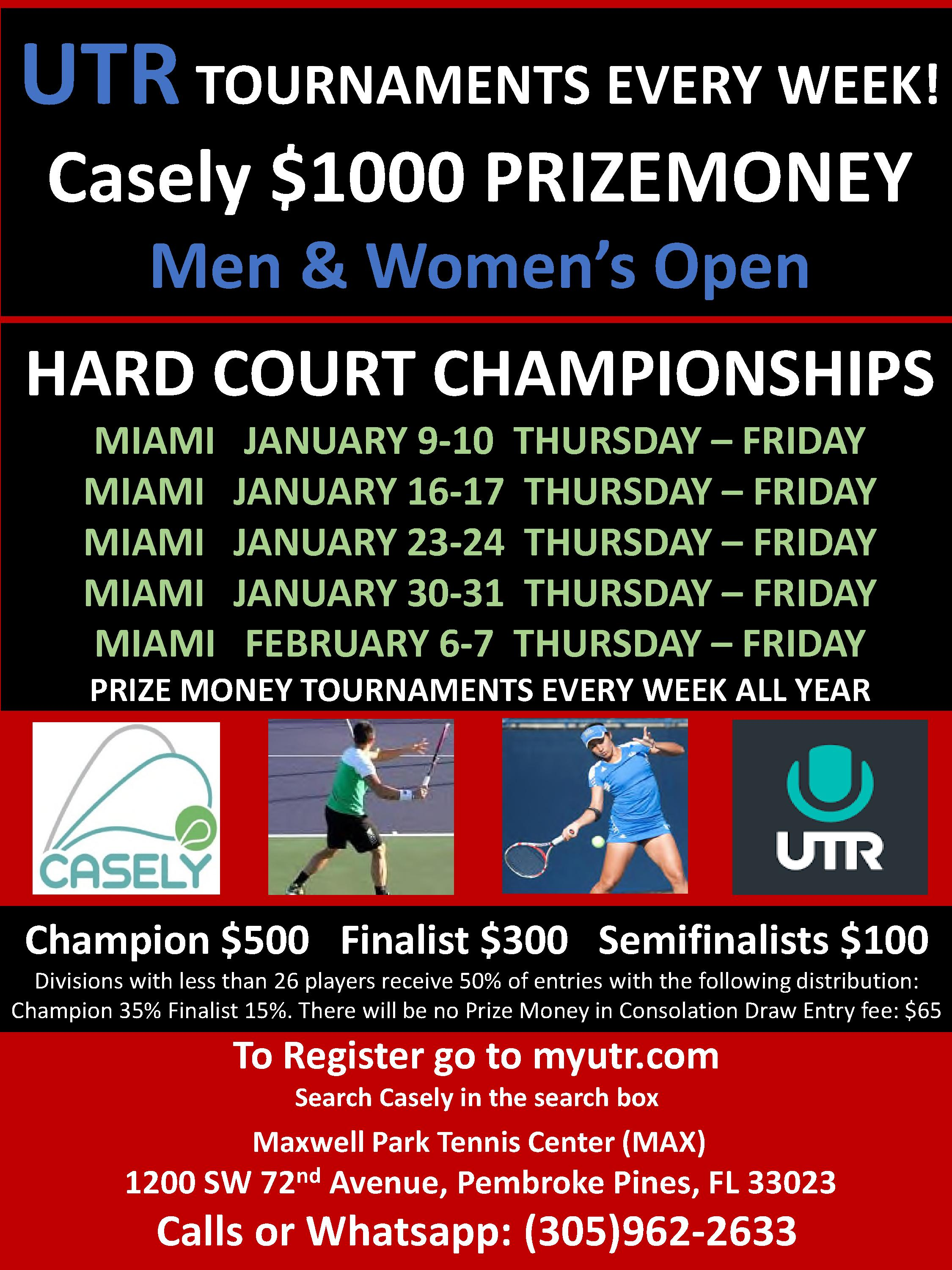 Casely Prize Money Championships